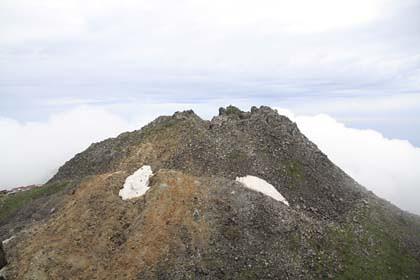 鳥海山の新山
