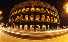 Colosseum, Rome, January 2011 (Kate_Lokteva) Tags: lighting longexposure nightphotography travel italy rome roma night italia it noflash fisheye colosseum coliseo coliseum 15mm europeanunion lazio colosseo colise  kolosseum travelphotography flavianamphitheatre 2011  unitedeurope italyitalia  romarome canon15mmfisheye anfiteatroflavio amphitheatrumflavium    coliseoderoma canon5dmarkii