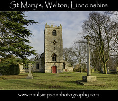 St Mary's, Welton (Paul Simpson Photography) Tags: uk trees winter england church monument sunshine religion headstones churchtower graves lincolnshire gb hdr welton sunnyday stmarys churchdoor supershot englishchurch religiousbuilding churchphotos westlindsey january2011 photosofchurches paulsimpsonphotography