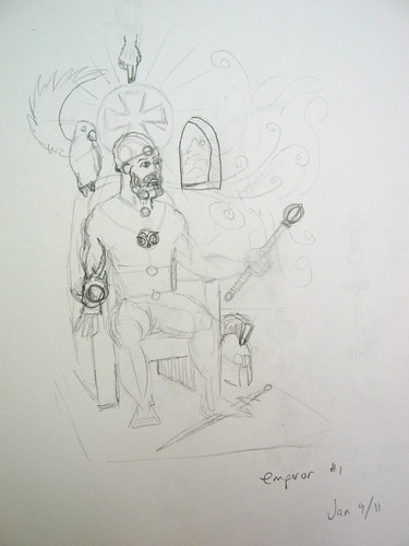 The Emperor - Outline - reject 1