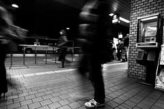 Hiroshima Bus terminal (Imahinasyon Photography) Tags: white motion black japan canon movement hiroshima stop 7d