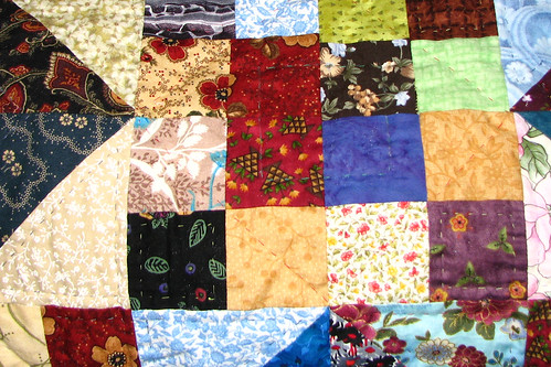 jacobs ladder quilting close up