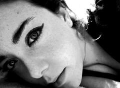 #selfie (zuiko94) Tags: portrait bw sun me face bigeyes spring eyes may olympus lips io occhi springbreak freckles viso biancoenero maggio sunnyday selfie 2014 labbra