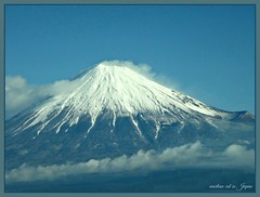 Mt. Fuji with a white snow cap. (martian cat) Tags: martiancatinjapan allrightsreserved allrightsreserved martiancatinjapan martiancatinjapan martiancatinjapan allrightsreserved allrightsreserved mtfuji japan snow landscape snowcapped mountain clouds