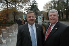 Bob Ott, District Two Cobb County Commissioner and Ed Johnson