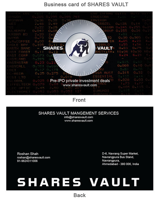 SharesVault Business Card