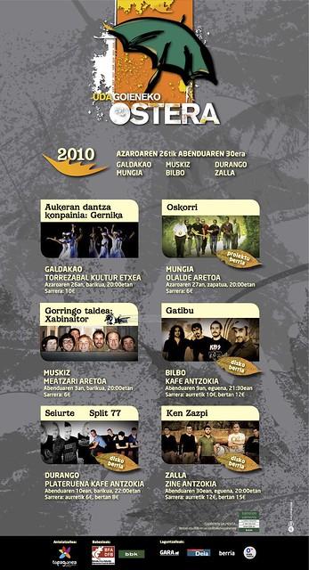 Udagoieneko Ostera 2010 - Kartela