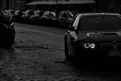 With the Eyes of an Angel. (Jurriaan Vogel) Tags: auto street bw italy black rome roma eye cars car angel germany dark deutschland photography eyes nikon italia very fast super exotic german bmw carbon m3 luxury coupe exclusive supercar v8 v10 coup vogel deutsch 2010 v12 zw 18105 carbonfibre d60 jurriaan e92 worldcars 420bhp 18105vr