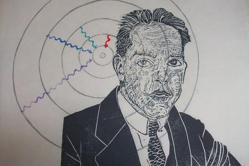 Niels Bohr portrait detail