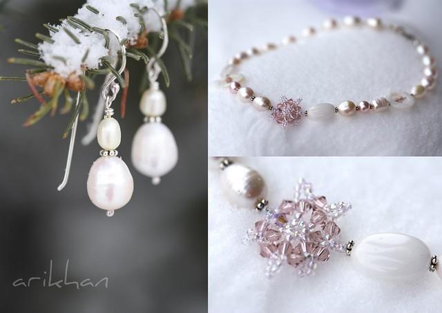 snowflake pearl set