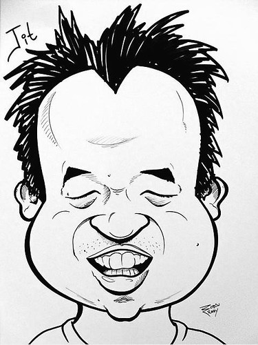 My caricature by Robin Crowley