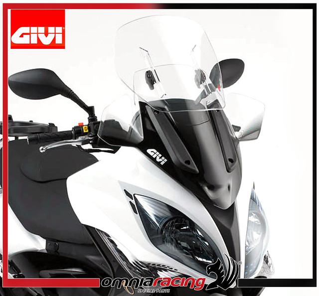 parabrezza givi airflow kymco xciting r 300i/500i 09/10 | ebay