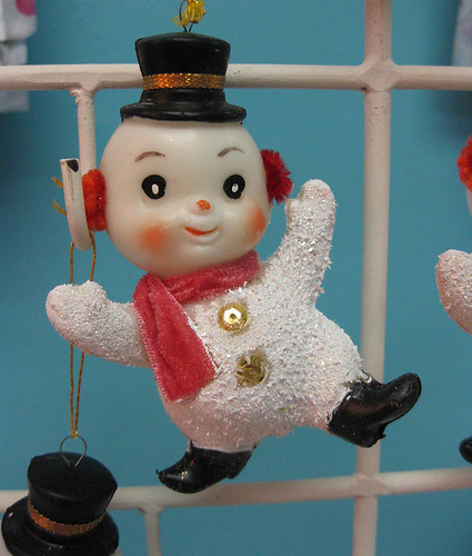Vintage Snowman Ornament by moxie-girl