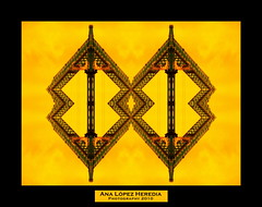 Estructuras para una arquitectura efmera (1/3) (Ana Lpez Heredia) Tags: barcelona color bamboo amarillo construccin wacom obra pentablet estructura paisajeurbano konicaminolta gra instantes dimagez5 delicadeza konicaminoltadimagez5 bamboowacom arquitecturaefmera analpezheredia