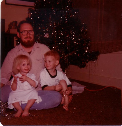 Me, Dad and C Christmas 1980