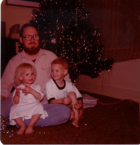 Me, Dad and C Christmas 1980