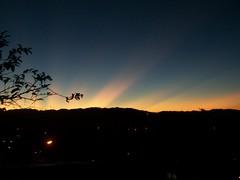 Sunrise in Baguio (raptor_031) Tags: city moon mountain car night sunrise landscape dawn twilight day cityscape venus dusk horizon baguio sunbeam benguet