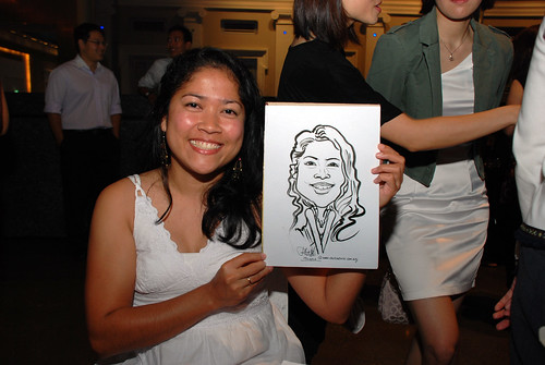 Caricature live sketching for Autism Association(Singapore)- Staff Dinner 2010 - 6