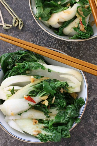 Spicy Stir-Fry Bok Choy with Ginger & Soy Sauce Recipe