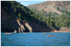 Kayakers At Kirby Cove (LifeLover4) Tags: sf sanfrancisco california canon bay boat fishing kayak marin arima kirbycove ggnra 550d efs1755mmf28isusm t2i parkpic lifelover4 stickneydesign ggnpc11