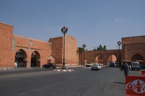 Old ramparts of the city of Marrakech Morocco