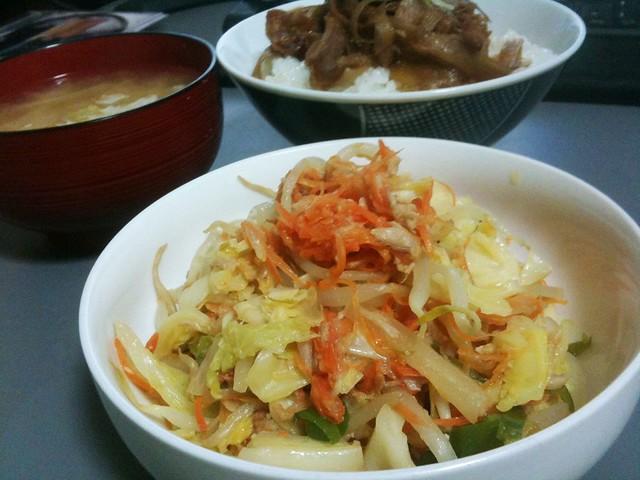 シーチキン入り塩野菜炒め #jisui
