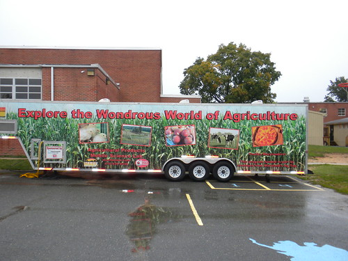"Maryland Agricultural Education Foundation's classroom on wheels—the ""Agricultural Products"" Mobile Science Laboratory."