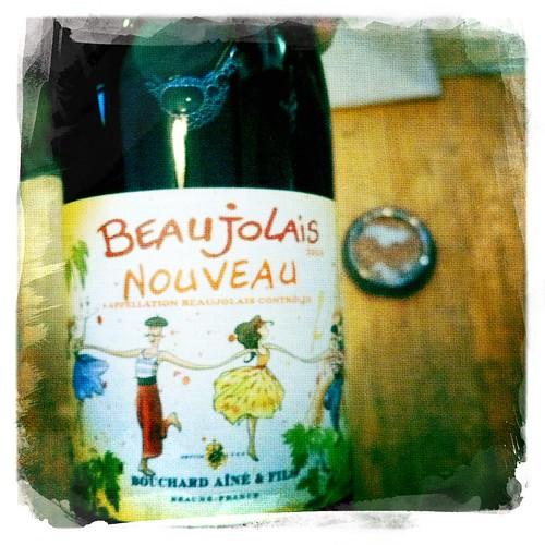 Beaujolais nouveau time. Woot!
