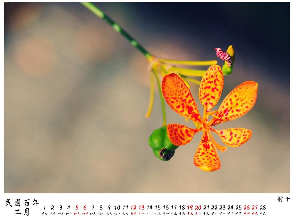 2011 桌曆4 2月