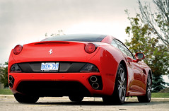Ferrari California (FORZA. Photography) Tags: red canada hardtop sony rear convertible folding exhaust woodbridge tailights dslra500
