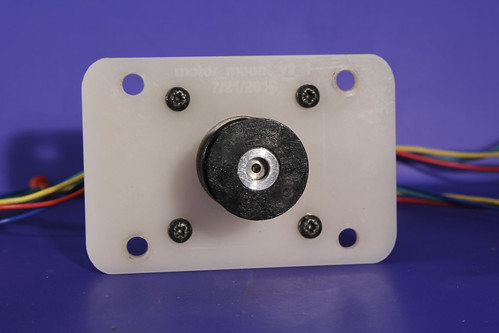 Motor mount with screws