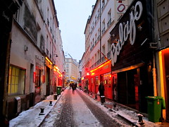 Le Balajo (Py All) Tags: road street red snow paris ice caf bar club rouge restaurant dancing route neige rue iledefrance rp idf glace 11me lappe 75011   rgionparisienne ruedelappe balajo