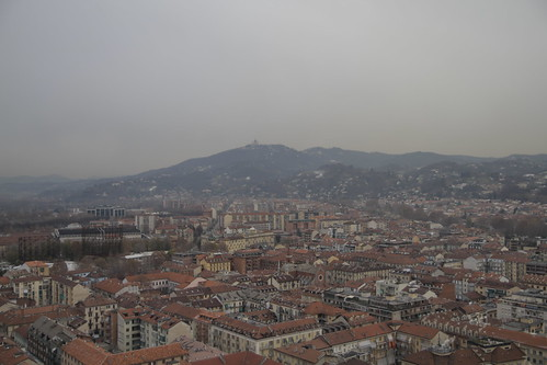 View of Torino from observation deck 4