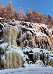 Fredrikafors (Wiking66) Tags: blue winter sky snow ice water se frozen vinter al december pentax sweden ii da sverige 18 55 smörgåsbord icefall luleå norrbotten niemisel colorphotoaward k20d fredrikafors
