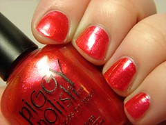 2010 Top 20, Piggy Polish Copper Harbor (PuckLizardRN) Tags: red orange copper nailpolish shimmer copperharbor piggypolish 2010top20