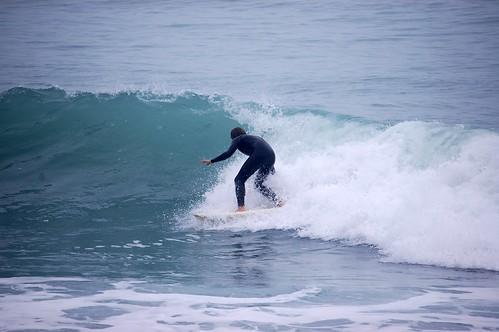 Tony surfing Mangamanau
