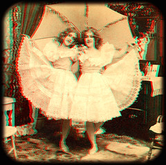 The Double Pansy 1899 anaglyph 3D (depthandtime) Tags: old original ballet sisters vintage found dance stereoscopic 3d twins view dancing sister antique 19thcentury twin anaglyph double odd stereo card stereoview stereograph foundphoto kilburn stereoscope nineteenthcentury 1890s anaglyphic stereographic 1899 turnofthecentury redcyan stereocard stereoscopeview bwkilburn