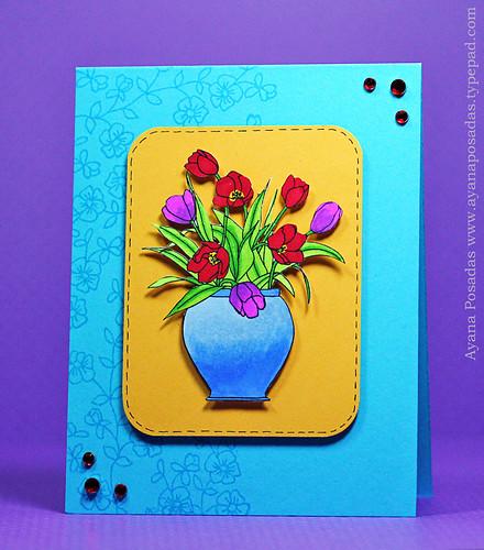 Vase of Tulips (1)