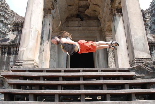 Volando en Angkor Wat
