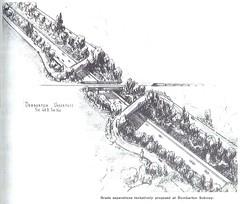 Dumbarton rail underpass (1940) (Eric Fischer) Tags: plan us101 bayshorefreeway unitedstateshighway101