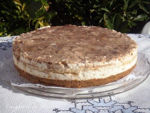 Tarta de queso con chocolate y caramelo (6)