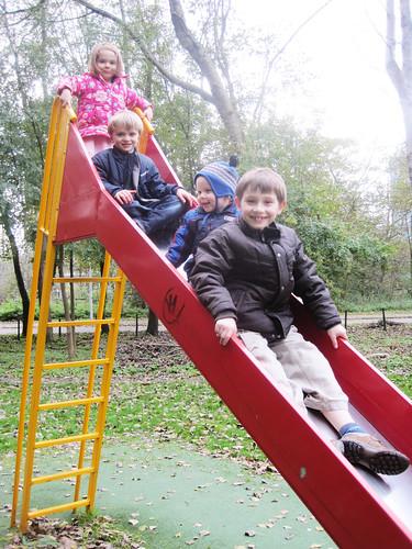 4 on a slide