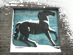Waltham-snow! (Richard and Gill) Tags: horse snow london station weather mural tube londonunderground e17 walthamstow walthamforest tfl transportforlondon blackhorseroad uksnow walthamsnow