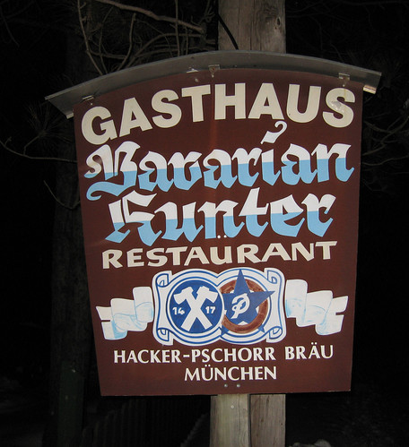 Gasthaus Bavarian Hunter Sign