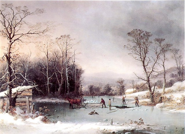 Winter in the Country, Getting ice 1862