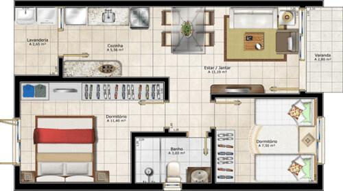 plantas de casas residenciais