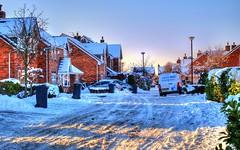 HDR Frozen Suburbia (bobbrooky) Tags: uk houses winter england snow frozen nikon estate suburbia places lancashire roads fullframe hdr tarleton photomatix tonemapped d700