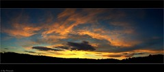 Sunset (Le***Refs *PHOTOGRAPHIE*) Tags: light sunset sky panorama sun colors clouds automne fire nikon noel panoramic explore ciel nuages happyholidays merrychristmas nimes frontpage stitched feu rveillon coucherdesoleil d90 lerefs