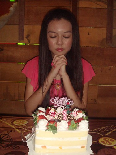 Chee Li Kee making wishes