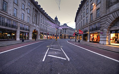 Regent Street (murphyz) Tags: street london abandoned britain bare empty neglected regentstreet vacant lonely olympic olympics forsaken solitary desolate barren derelict uninhabited lorn hdr isolated christmasday 2012 forlorn london2012 bereft londonist 2012olympics londonolympics relinquished olympiccity